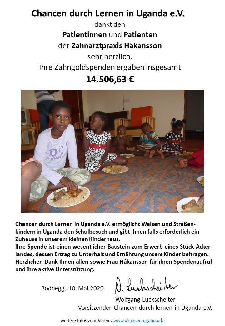200505 Dankesplakat Chancen Uganda